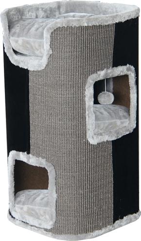 Krabpaal klimmeubel 2-gaats grijs / zwart