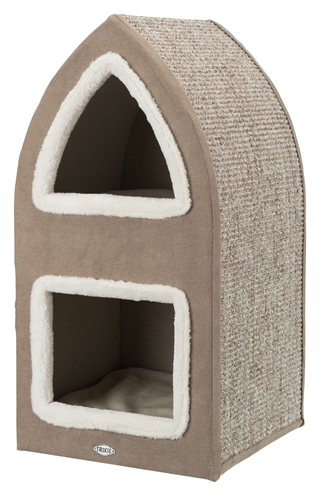 Trixie krabpaal cat tower marcy bruin / creme