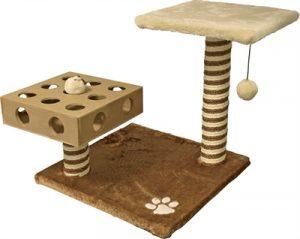 Klimmeubel met speelbox einstein bruin/beige